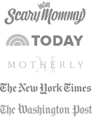 A list of brands which feature Sittercity: Scary Mommy, The Today Show, Motherly, The New York Times, and the Washington Post
